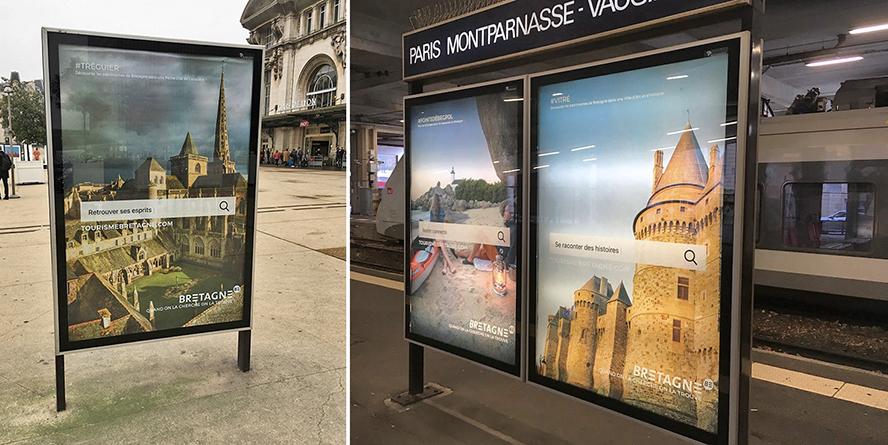 Affichage en gare SNCF - Paris Ile-de-France
